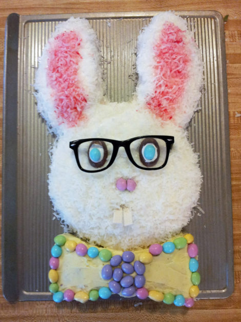 hipster Easter bunny cake